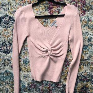 ASOS plunge neck sweater